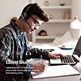 AIKELA V5.0 Bluetooth Headset with Noise Cancelling Microphone, Wireless Headset with Charging Dock Stand Headphones with Mute Mode for Home Office Truck Driver Business Call Center Computer Phone