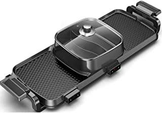 Household Single-Layer Barbecue Hot Pot Versatile Hot Pot Electric Oven Iron Plate Steak Commercial Korean Smokeless Pan (...
