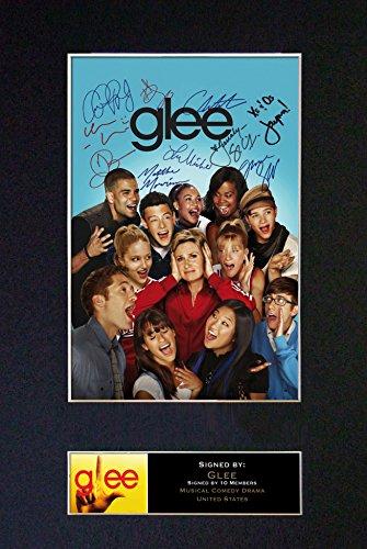 Glee Foto Reproduktion mit Autogramm, A4, seltener (297 x 210 mm) #118 (Passepartout & Druck (nicht gerahmt)