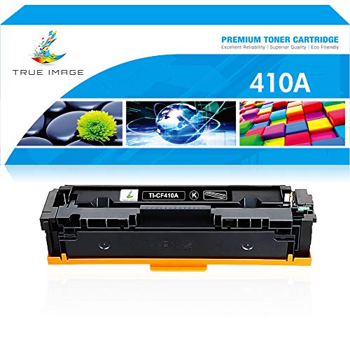 True Image Compatible Toner Cartridge Replacement for HP 410A CF410A CF410X 410X 410 Laserjet Pro MFP M477fdw M477fdn M477fnw M452nw M452dw M452dn M477 M452 (Black, 1-Pack)