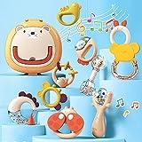 Toyssa 10 Piezas Sonajeros Bebe Mordedor Bebe Set con Caja de Almacenamiento Mordedores Bebes Sin BPA para la Dentición Refrigerante Juguetes Bebe Regalo para Bebés Infantil 0 3 6 9 12 Meses