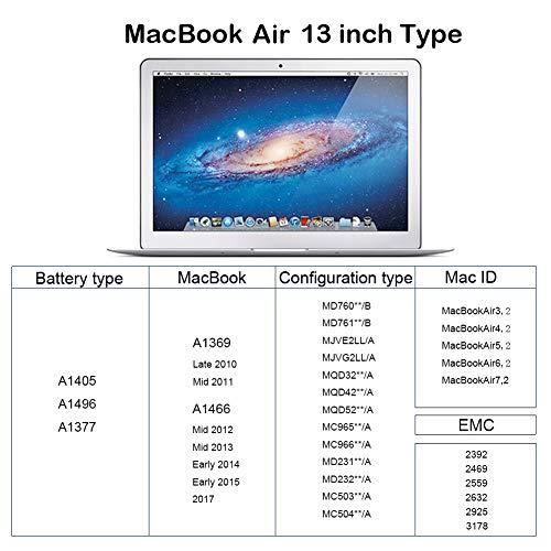 K KYUER A1405 A1377 A1496 Laptop Akku für MacBook Air 13