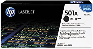 Hewlett Packard Q6470AG OEM Toner - HP 501A Color LJ 3600 3800 CP3505 Black Original LaserJet Toner Cartridge for US Government (6000 Yield) (105/Pallet) (TAA Compliant version of Q6470A)