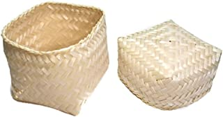 Wonderrun Basket Sticky rice (kitap) to Craft handmade from bamboo in Thailand for kitchenware or cookware steamer pot food