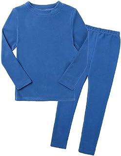 Conjunto de Pijama para niño y niña, Conjunto de 2 Piezas, Camiseta de Manga Larga y pantalón