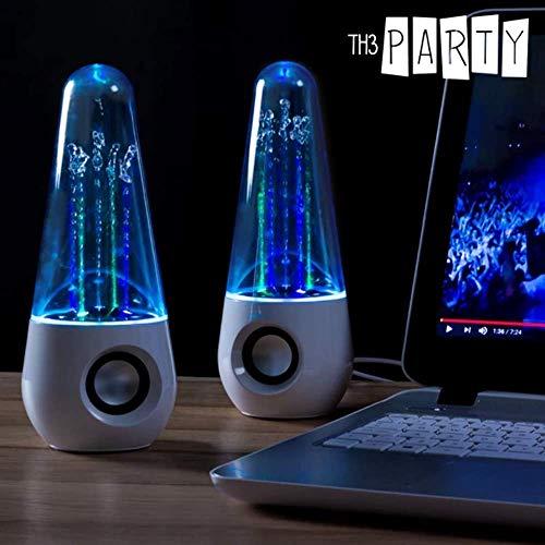 Lautsprecher Dancing Water, mit je 5 LED, mit 3,5 mm Audio-Stecker & Stromversorgung über USB-Anschluss, ca. 22 cm, 2er Set (Setpreis)