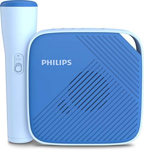 Philips S4405N/00 Enceinte sans fil, Haut-parleur Bluetooth avec microphone (Portée de 10m, Couplage Bluetooth intelligent, 6 heures de lecture, Enregistrement à une touche) Bleu - Modèle 2020/2021