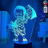 3DイリュージョンランプLEDナイトライトアニメワンピースロロノアゾロ子供用フィギュア子供寝室の装飾USBテーブルランプギフト