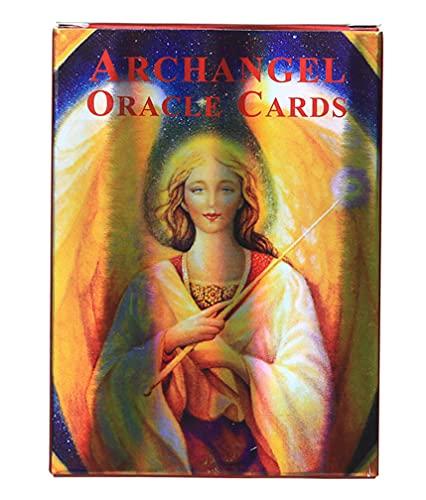 FEZD Versión con Láser De Las Tarjetas del Arcángel Oracle, Los Conjuntos De Tarjetas De Predicción Destiny Son Excelentes, Juegos De Cartas De Mesa Divertidas para Adolescentes (Bolsa, Mantel)