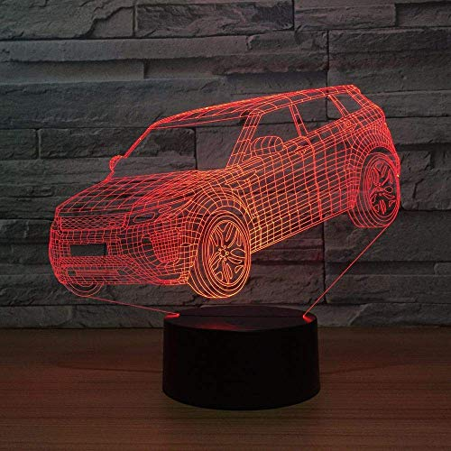 SUV Car Children's Toys Children's Party Gifts 7 kleuren Change USB-lamp Lighting Led in The Bedroom Next to The Decoratieve 3D-lamp
