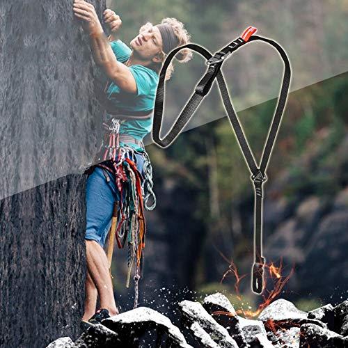 Balight Body Arnés de Pecho Cinturón de Soporte de Seguridad para Alpinismo Trabajo de Escalada Árbol de Escalada al Aire Libre