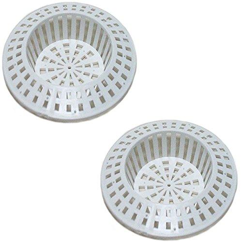 2 x GASTRO Kunststoff Abflusssieb Haarsieb Spülbecken Waschbecken Spülbeckensieb Badewanne Duschwanne Ablaufsieb