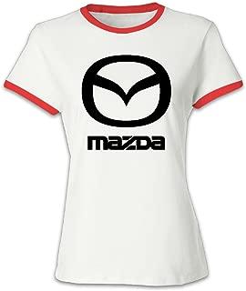 WOMEN Clothing Women's Mazda Logo-01.png Baseball Tee Shirt Black