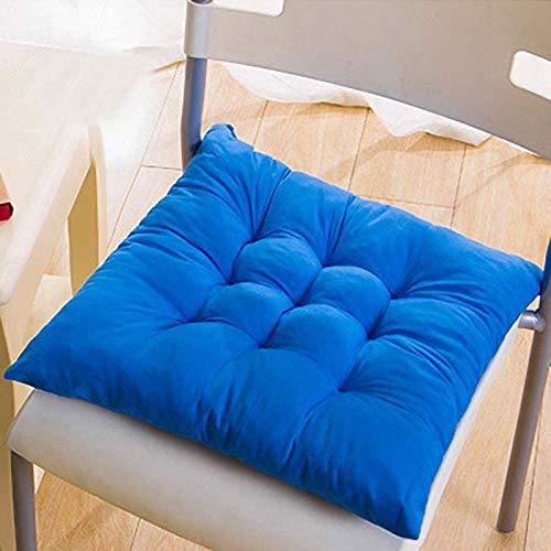 MJMJ Juego de 4 cojines para silla de comedor, 40 x 40 cm, para interior y exterior (color: real)