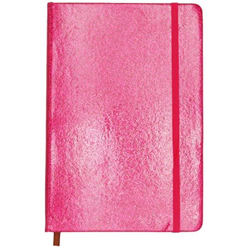 Cuaderno Purpurina Roja - 120 Páginas Con Líneas