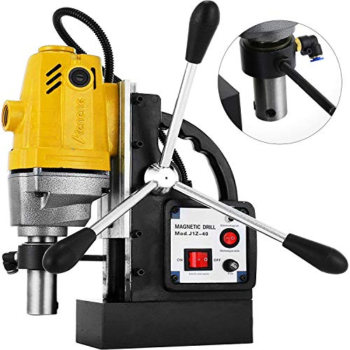 Lowest Price! Mophorn 1100W Magnetic Drill Press with 1-1/2 Inch (40mm) Boring Diameter MD40 Magneti...