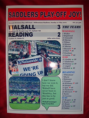 Walsall 3 Reading 2 - 2001 Second Division play-off final - souvenir print