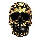 VOSAREA Calavera de Resina Modelo Cráneo Humano Lujosa Figura Cráneo Adornos de Esqueleto Calavera D...