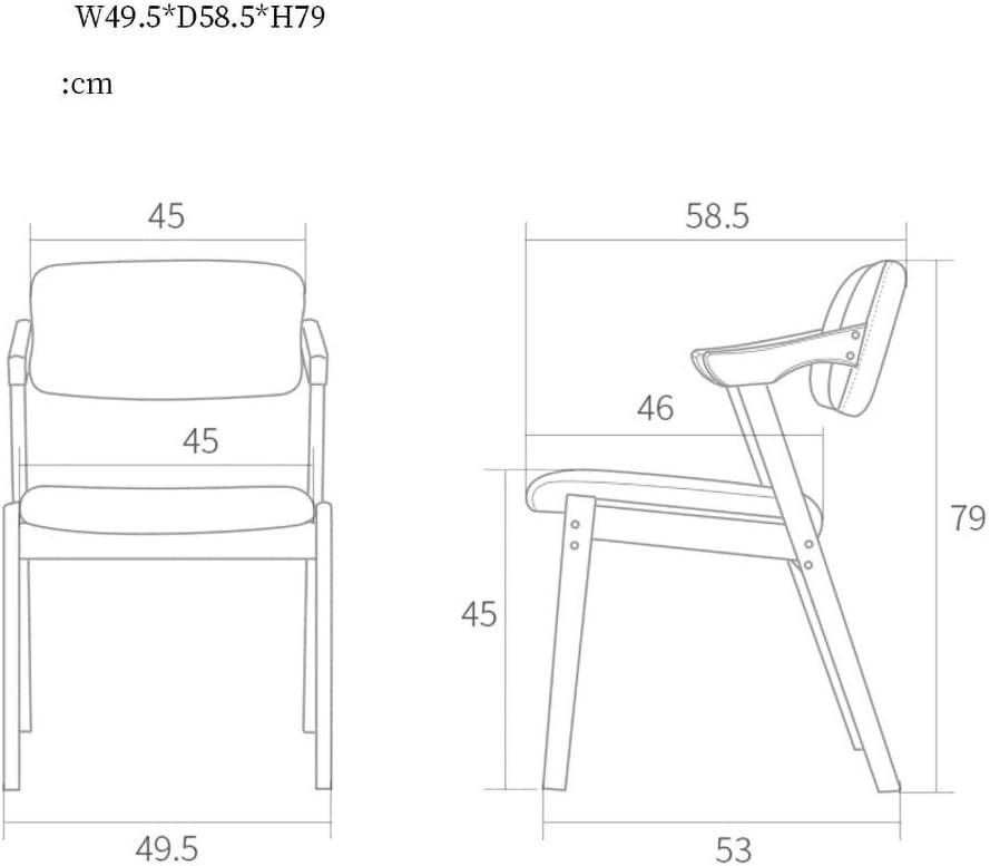 MXXYZ Chaise pliante en bois massif, chaise de salle à manger, de salon, d'hôtel, de restaurant a4 A5