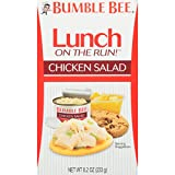 BUMBLE BEE Lunch on The Run! Chicken Salad Lunch Kit, 8.2 Ounce Kit (Pack of 4), High Protein Lunch Kit, Canned Chicken Salad