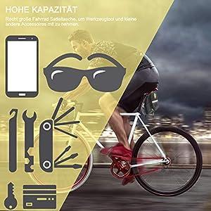 Fengzio Bolsa Bicicleta con Mini Bomba para Bicicleta y 16 en 1 Bicicleta Multiherramienta Kit De Parche De Bicicleta Son adecuadas para Bicicletas de montaña, Autos de Carrera