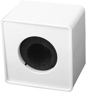 BESTOYARD Square Cube Shaped Interview Microphone Logo Flag Station Logo (White)