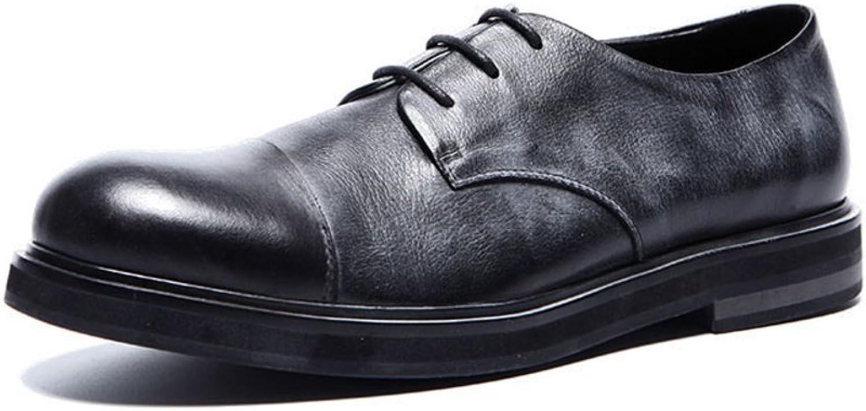 WLJSLLZYQ Everyday Casual shoes Fashion Men Waxes Retro British Fashion shoes