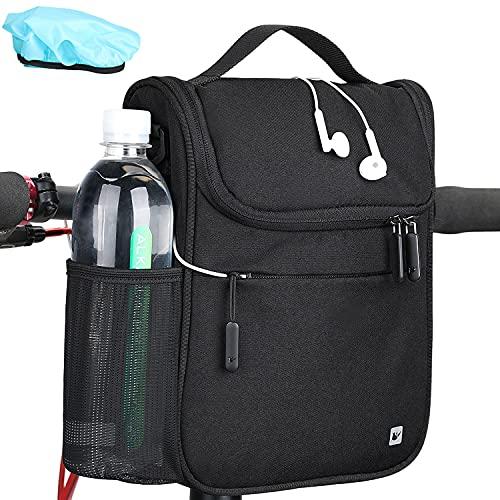 Bolsa isotérmica para manillar de bicicleta, 5 litros, color negro