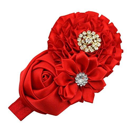 Teenxful Bluelans élastique pour bébé fille Bandeau fleur ruban Bandeau Cheveux Cheveux Robe Accessoires Cheveux