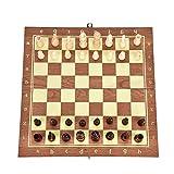 Happy Shop Ajedrez 34,5 * 34 cm doblan al Tablero Piezas de ajedrez de Madera Colección Internacional de Ajedrez Piezas de Juego Set Staunton Style portátil Juego de Mesa De Madera