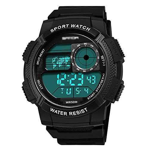 Reloj Digital Deportivo para Hombre, Multifunción, Impermeable, Reloj Electrónico para Deportes Al Aire Libre, para Correr, Montañismo, Fitness, Al Aire Libre, para B