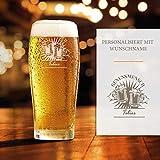 Smyla Premium Bierglas mit Gravur (Genussmensch-Design) | Geschenk-Idee | personalisiertes Bier-Glas...
