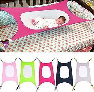 Baby Hammock Crib - Newborn Infant Hammock Baby Hang Mat Travel Baby Sleeping Bed Detachable (Grey)