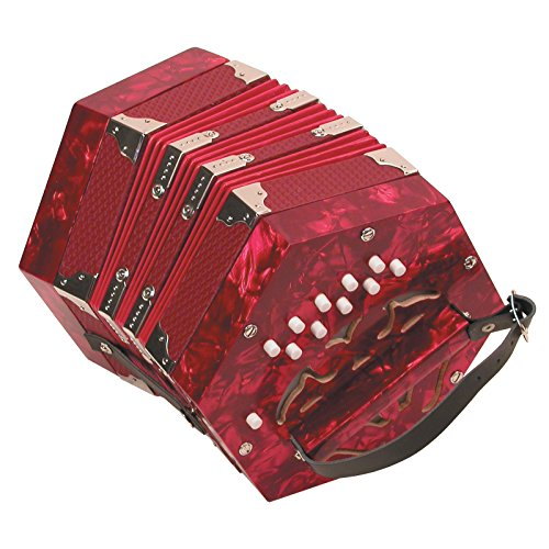 Trinity College AP-20 Diatonic 20-button Anglo Concertina,Red Pearloid