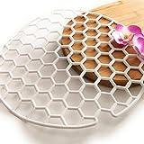 Berossi - Tappetino antiscivolo per lavello, adatto anche per cassetti, tappetino protettivo rotondo per lavabo, 2 pezzi, colore: Bianco
