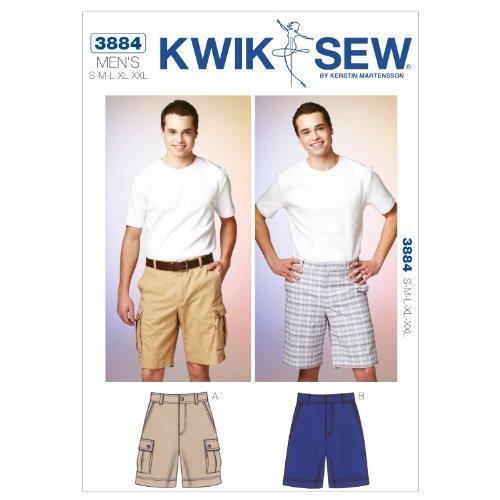 Kwik Sew K3884 Shorts Sewing Pattern, Size S-M-L-XL-XXL