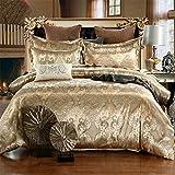 KSUDE - Juego de 3 fundas de edredón de jacquard, ideal como ropa de cama para boda, decoración de habitación y hotel
