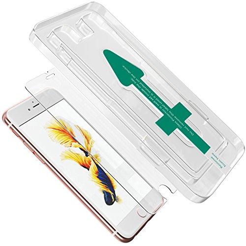 XeloTech 2X Schutzglas für iPhone 6s Plus, 6 Plus mit Positionierungs-Schablone für hohe Passgenauigkeit - Unterstützt 3D Touch