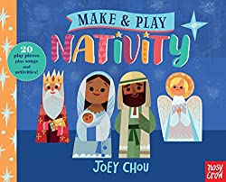 Make and Play Nativity book and nativity scene pieces and characters as a sort of nativity craft
