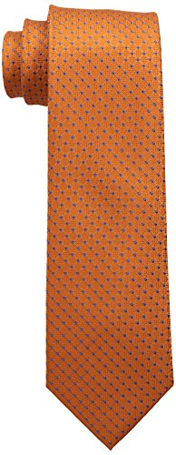 Tommy Hilfiger Men's Connected Dot Tie, Orange, One Size