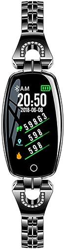 Wertyhy Montre Intelligente Moniteur de Sommeil Podomètre intelligentregarder de Moniteur de Sommeil de fréquence voiturediaque de Pression artérielle de Femmes de Mode pour téléphones Android iOS