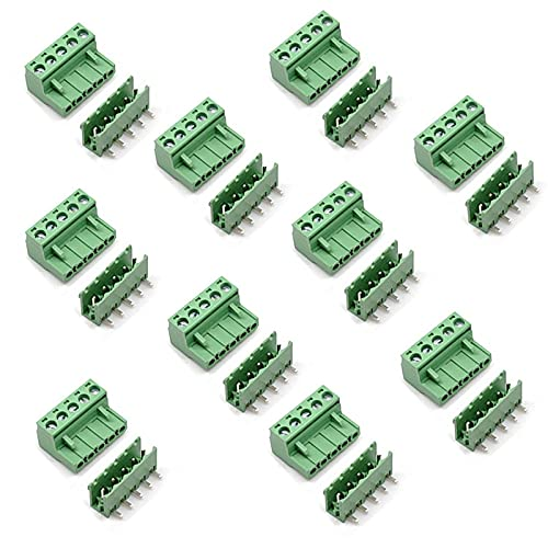 LuoQiuFa Nippon sale regular agency 10 Set 5-pin 5.08mm Pitch PCB Right Ter Pluggable Angle