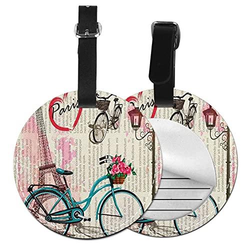 Etiquetas para Equipaje Bolso ID Tag Viaje Bolso De La Maleta Identifier Las Etiquetas Maletas Viaje Luggage ID Tag para Maletas Equipaje Bicicleta Torre Eiffel Paris 53