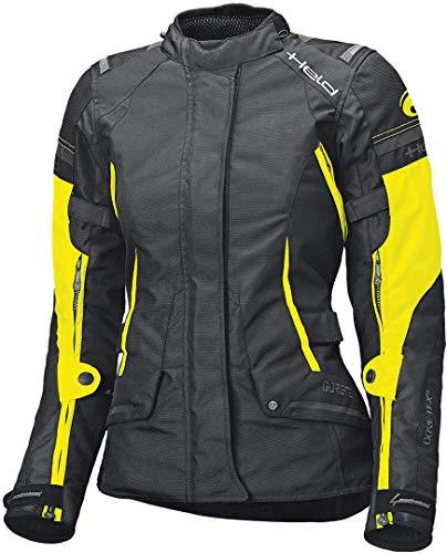 Held Motorradjacke mit Protektoren Motorrad Jacke Molto Damen Textiljacke GTX schwarz/Neongelb L, Tourer, Ganzjährig
