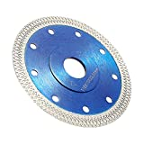 Diamond Cutting Blade 115mm/4.5in Super Thin Diamond Saw Blade Dry Cutting Disc for Angle Grinder Cutting Stone Brick Concrete Porcelain Tile Blue
