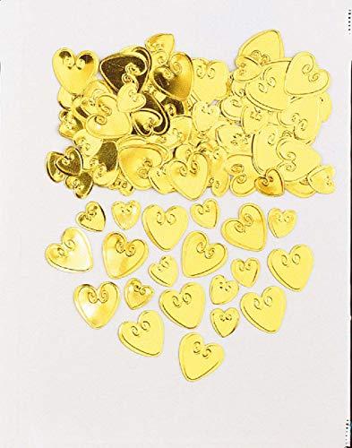amscan International Confetti métalliques Cœurs 50 Doré 14 g