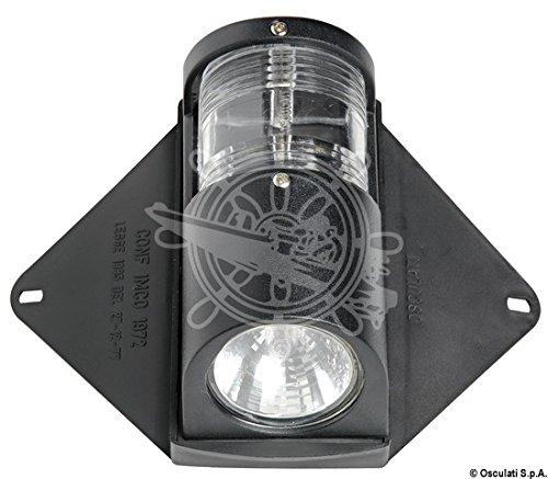 OSCULATI Faro Utility Coperta + Luce Via 12 V