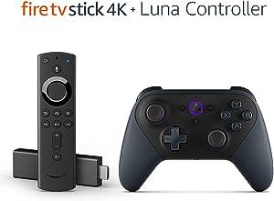 Fire TV Gaming Bundle including Fire TV Stick 4K and Luna Controller
