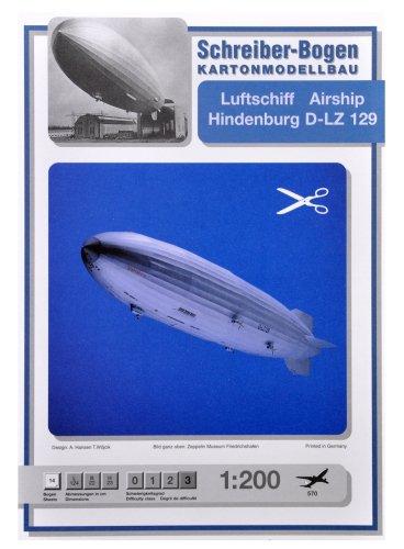 Aue-Verlag 124 x 22 x 23 cm Modellbausatz Luftschiff Hindenburg D-LZ 129
