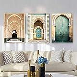 OKYQZ Marokkanischer Bogen Leinwand Poster Wandkunst